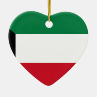 Low Cost! Kuwait Flag Ceramic Heart Ornament