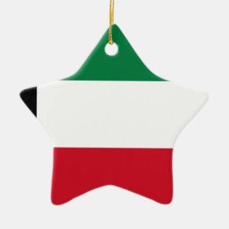 Low Cost! Kuwait Flag Ceramic Star Ornament