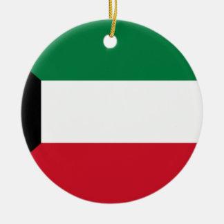 Low Cost! Kuwait Flag Round Ceramic Ornament