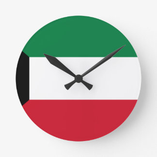 Low Cost! Kuwait Flag Round Clock