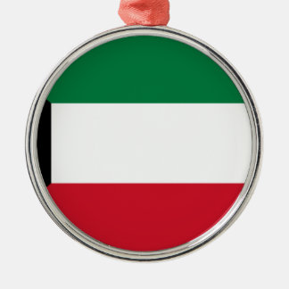 Low Cost! Kuwait Flag Silver-Colored Round Ornament