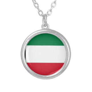 Low Cost! Kuwait Flag Silver Plated Necklace