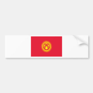Low Cost! Kyrgyzstan Flag Bumper Sticker