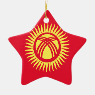Low Cost! Kyrgyzstan Flag Ceramic Ornament