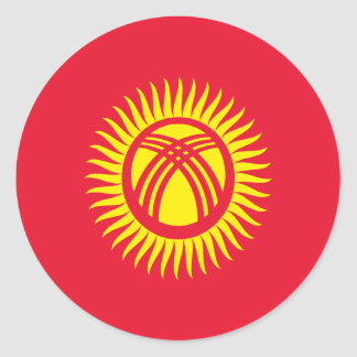 Low Cost! Kyrgyzstan Flag Classic Round Sticker