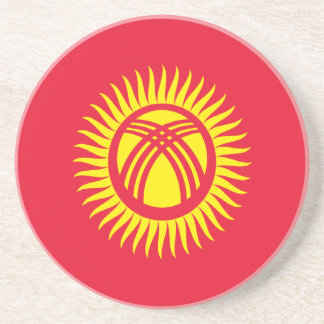 Low Cost! Kyrgyzstan Flag Coaster