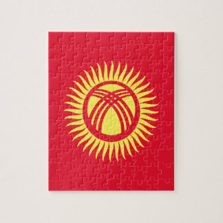 Low Cost! Kyrgyzstan Flag Jigsaw Puzzle