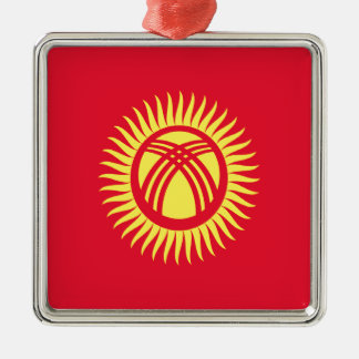Low Cost! Kyrgyzstan Flag Metal Ornament