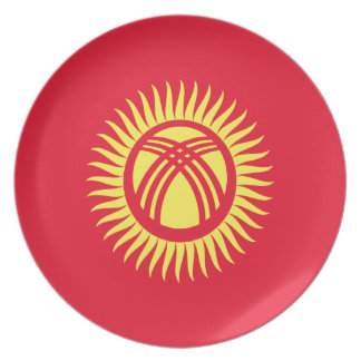 Low Cost! Kyrgyzstan Flag Plate