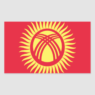 Low Cost! Kyrgyzstan Flag Sticker