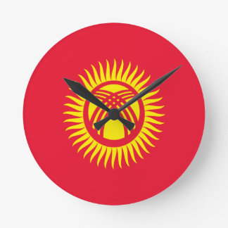 Low Cost! Kyrgyzstan Flag Wall Clock