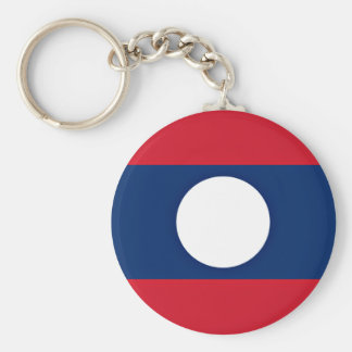 Low Cost! Laos Flag Basic Round Button Keychain