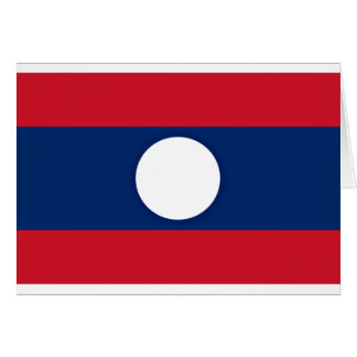 Low Cost! Laos Flag Card