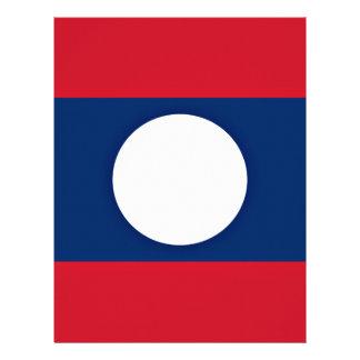 Low Cost! Laos Flag Customized Letterhead