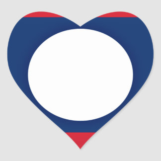 Low Cost! Laos Flag Heart Sticker