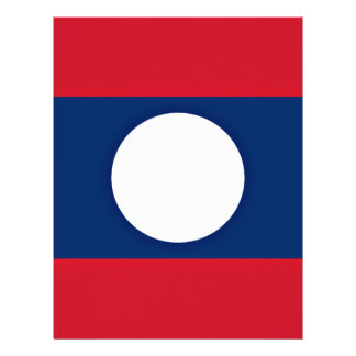 Low Cost! Laos Flag Letterhead