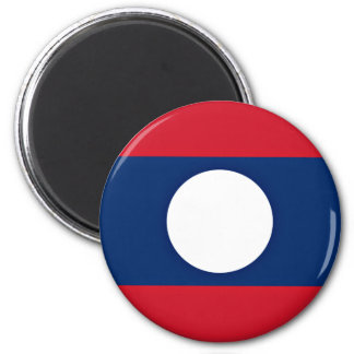 Low Cost! Laos Flag Magnet
