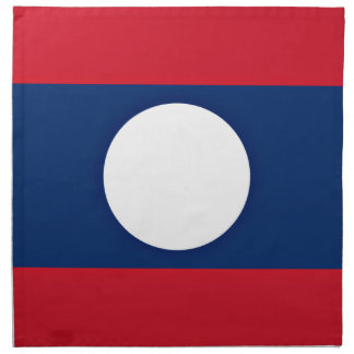 Low Cost! Laos Flag Napkin