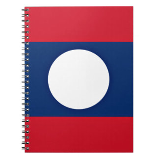 Low Cost! Laos Flag Notebook