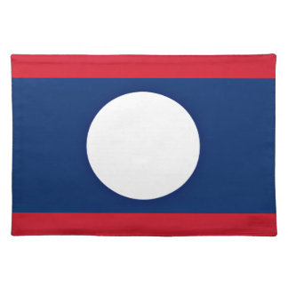 Low Cost! Laos Flag Placemat