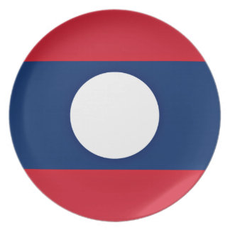 Low Cost! Laos Flag Plate