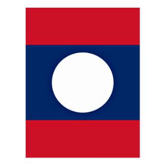 Low Cost! Laos Flag Postcard