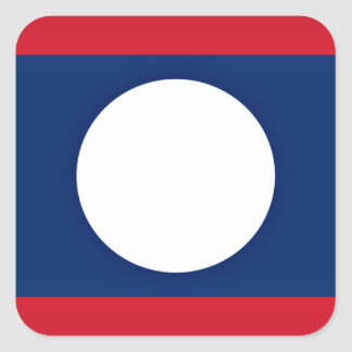 Low Cost! Laos Flag Square Sticker