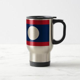 Low Cost! Laos Flag Travel Mug