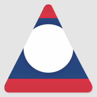 Low Cost! Laos Flag Triangle Sticker