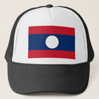 Low Cost! Laos Flag Trucker Hat