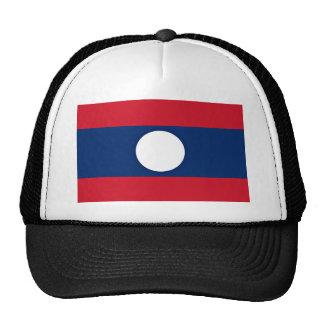 Low Cost! Laos Flag Trucker Hat