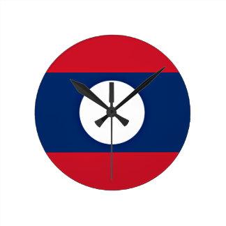 Low Cost! Laos Flag Wall Clocks