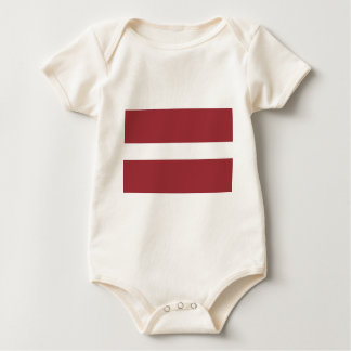 Low Cost! Latvia Flag Baby Bodysuit