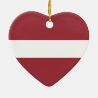 Low Cost! Latvia Flag Ceramic Heart Ornament