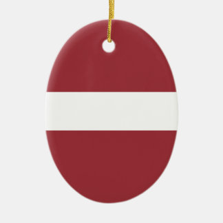 Low Cost! Latvia Flag Ceramic Oval Ornament
