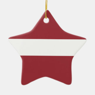 Low Cost! Latvia Flag Ceramic Star Ornament