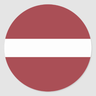 Low Cost! Latvia Flag Classic Round Sticker