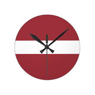 Low Cost! Latvia Flag Clocks