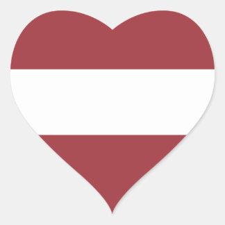 Low Cost! Latvia Flag Heart Sticker