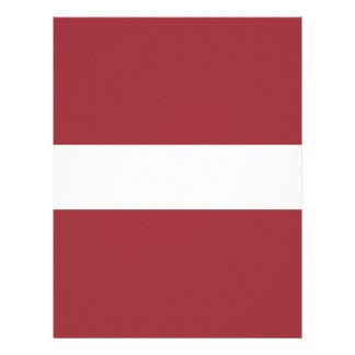 Low Cost! Latvia Flag Letterhead