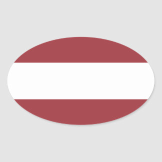 Low Cost! Latvia Flag Oval Sticker