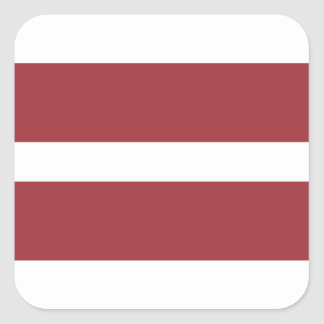 Low Cost! Latvia Flag Square Sticker