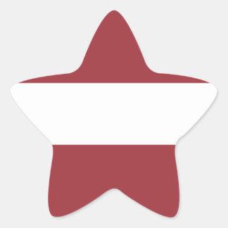 Low Cost! Latvia Flag Star Sticker