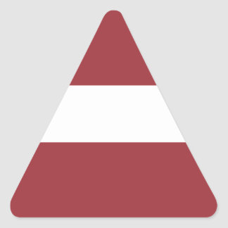 Low Cost! Latvia Flag Triangle Sticker