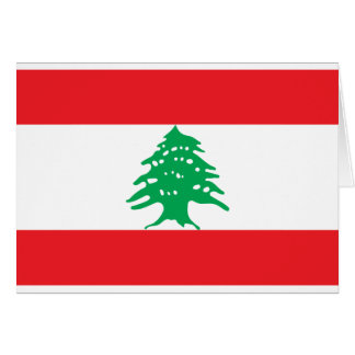 Low Cost! Lebanon Flag Card