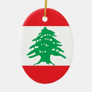 Low Cost! Lebanon Flag Ceramic Ornament