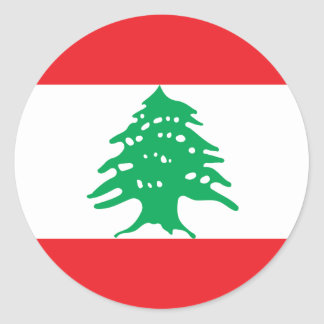 Low Cost! Lebanon Flag Classic Round Sticker