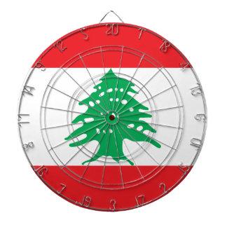 Low Cost! Lebanon Flag Dartboard