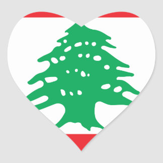 Low Cost! Lebanon Flag Heart Sticker