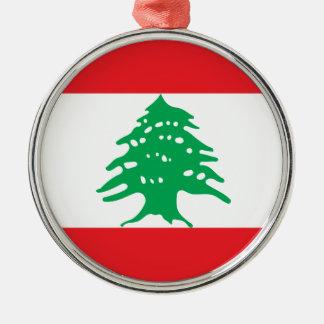 Low Cost! Lebanon Flag Metal Ornament